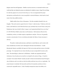essay hollis  self awareness othello s 3