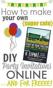 How To Make Printable Invitations Make Your Own Diy Printable Party Invitations The Creek