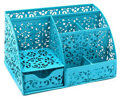 Cute desk organizer Makeup Desk Amazoncom Easypag Cute Office Desk Organizer Mixed Pattern Compartments Desktop Accessories Caddy With Drawer Dark Teal Office Products Amazoncom Amazoncom Easypag Cute Office Desk Organizer Mixed Pattern