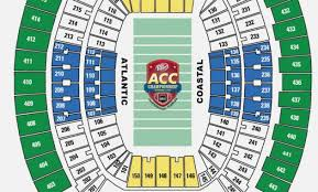 2018 Acc Tournament Seating Chart By School Acc Championship Seating Bank Of America Stadium Tickets