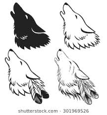 wolf howling drawing head. Contemporary Head Howling Wolfu0027s Head Hand Drawn Vector Illustration May Be Used As Tattoo  Sketch Or On Wolf Drawing Head