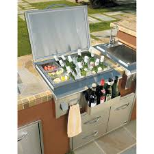 outdoor kitchens stainless steel built in ice chest designs