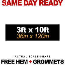 3ft H X 10ft Wide Banner Print 619signs San Diego