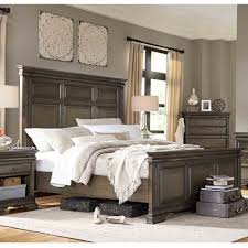 wood panel bed. Arcadia Wood Panel Bed In Truffle N