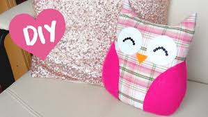 Pillow Sewing Patterns Classy DIY ROOM DECOR Easy Owl Pillow Sewno Sew YouTube