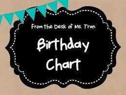Teacher Birthday Chart Freebie Rustic Birthday Chart Teacher Appreciation