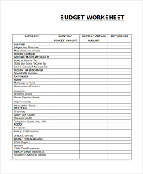 Free Family Budgeting Worksheets Free Household Budget Worksheet Template Business