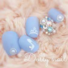 Dnベリーショート水色ブルーシンデレラ風ガラスの靴とティアラの