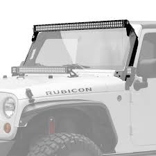 jeep light bars light mounting solutions kc hilites 50 c series c50 led bar overhead mount bracket kit jeep jk 07 18 kc 366