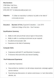 Resume Template For College Student Best Of Resumes Template For College Students Fastlunchrockco