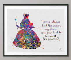 glinda the good witch wizard of oz watercolor print by cocomilla on wizard of oz wall art with glinda the good witch wizard of oz watercolor print by cocomilla