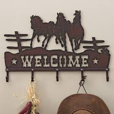 Horse Coat Rack Running Horses Welcome Coat Rack 7