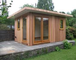 prefabricated garden office. wired garden studio prefabricated office e