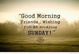 Good Morning Friendswishing You An Amazing Sunday Good Morning