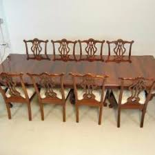 gany chippendale dining room table by thomasville 116 banded
