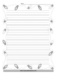 christmas writing paper printables christmas paper a christmas tree light border websterlearning