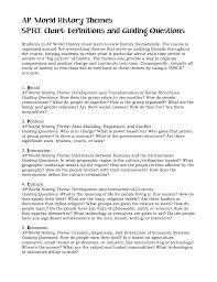 Ap World History Themes Spice Chart