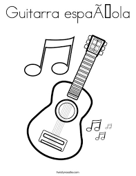 Small Picture Guitarra espaola Coloring Page Twisty Noodle