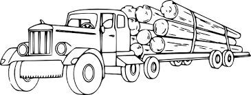 logging coloring pages log truck coloring pages paintbrush art ideas pinterest kids