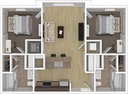 2 bedroom 2 bathroom 2x2 floorplan featuring 813 square feet of space