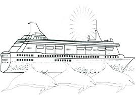 Disney Cruise Coloring Pages Cruise Ship Coloring Pages Disney