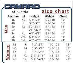 Camaro Wetsuits Size Chart Wetsuit Megastore