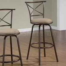 Coaster Co 29 X Back Style Metal Bar Stools In Brown Set Of 2 .