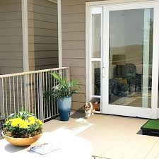 sliding glass pet door for frames up to by electronic patio dog home depot fo
