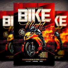 Motorcycle Event Flyer Templates Bike Night Flyers Coastal Flyers