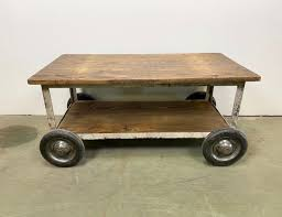 vintage industrial coffee table with