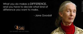 Jane Goodall Quotes Amazing Why Not Girl Jane Goodall Quotes What You Do Makes A