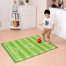 cute children room crawling play mats football field rug doormat big anti slip home decoration