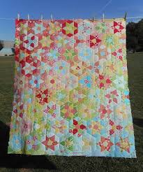 737 best quilting images on Pinterest | Quilt block patterns ... & Log Cabin Quiltery--English Paper Piecing rainbow scrap quilt made with  jewel shapes, Adamdwight.com