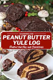 Light Peanut Butter Cake Peanut Butter Cup Yule Log Is Made From A Light Chocolate
