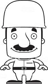 カットイラスト笑顔ミナミコメツキ男性 1人のベクターアート素材や画像