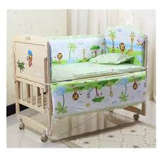 monkey cute baby nursery bedding set fit 120x60cm cot cotton padded per baby nursery bedding sets cartoon cot per uk 2019 from toyshome