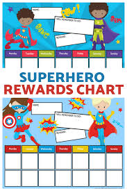 Superhero Reward Chart For Boys Girls Free Printable