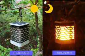 china solar powered candle light led camping garden yard outdoor