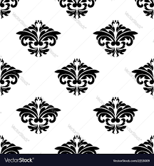 Repeats In Textile Designing Floral Motifs In A Repeat Seamless Damask Pattern