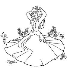 Small Picture Princess Aurora Sitting on the Grass in Sleeping Beauty Coloring