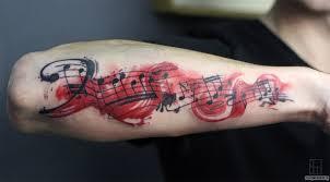 фото татуировки ноты