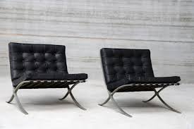 ludwig mies van der rohe barcelona. White Barcelona Chair Lovely Vintage Chairs By Ludwig Mies Van Der Rohe For Knoll D
