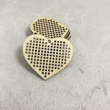 wooden cross stitch blank pendant heart shaped wood diy crafts w55093805