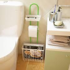 Toilet Paper Holder With Magazine Rack Metal Multifunctional Bathroom Shelf Toilet Paper Towel Rack Iron 65