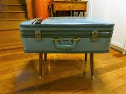 vintage retro atomic style suitcase side table storage box sold