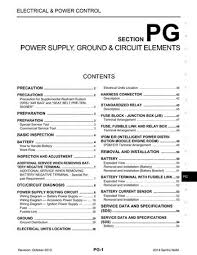 2014 nissan sentra power supply ground circuit elements 2014 nissan sentra power supply ground circuit elements section pg 54 pages