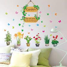ซ อ wall decal erfly flowers and