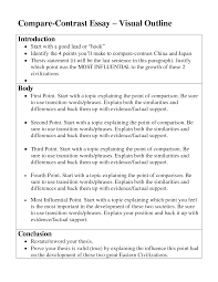 compare and contrast essay example for middle school compare and example of a comparison contrast paper teaching writing and high schools