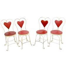 set of 4 antique ice cream parlor chairs for