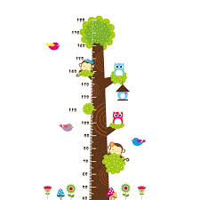 Removable Diy Pvc Cartoon Kids Height Measure Ruler Nursery
